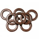 "#10 Plastic Grommet, 1 3/8"", 8 Sets, DARK WOOD"
