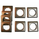 "Fast-set Metal, #12 Square Grommet, 1 9/16"", 8 Sets, Ant. Copper"