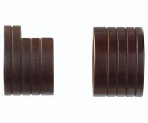 "Kirsch Wood Trends Classics  Inside Mount Sockets  for 1 3/8"" pole, Coffee (MPN#"