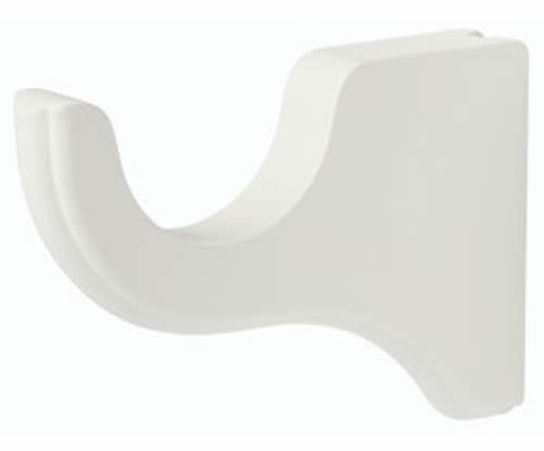 "Kirsch Wood Trends Classics 4 1/2"" Return Bracket for 3"" pole,  White (MPN# 5903"
