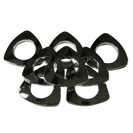 "Triangle #10 Plastic Grommets, 1 3/8"", 8 Sets, Chrome"
