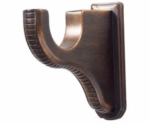 "Kirsch Wood Trends Renaissance 3 3/4"" Return Bracket for 2"" pole,  Brown (MPN# 2"
