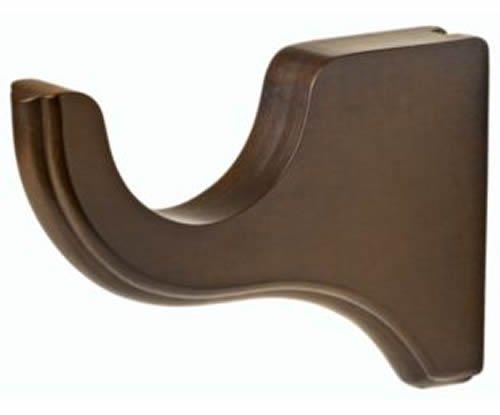 "Kirsch Wood Trends Classics 6"" Return Bracket for 3"" pole,  Hazelnut (MPN# 59133"