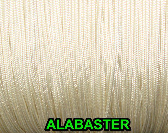 1000 YARDS: 1.2 MM, ALBASTER Professional Grade LIFT CORD for Window Treatments
