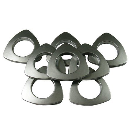 "Triangle #10 Plastic Grommets, 1 3/8"", 8 Sets, Brushed Steel"