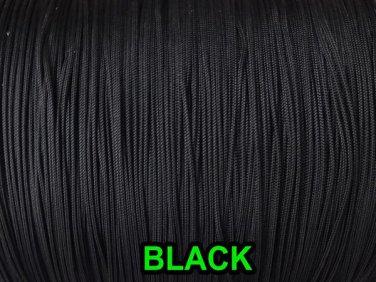 1000 YARDS: 0.9 MM, BLACK Professional Grade Nylon Lift Cord For Window Treatmen