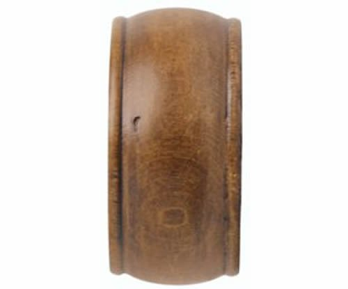 "Kirsch Wood Trends Classics End Cap Finial, for 1 3/8"" pole, Estate Oak (MPN# 36"