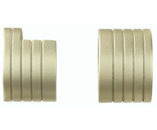 "Kirsch Wood Trends Classics  Inside Mount Sockets  for 1 3/8"" pole, Satin Gold ("