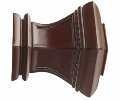 """Kirsch Wood Trends Classics Bristol Finial, for 3"""" pole, Mahogany (MPN# 56810083"""