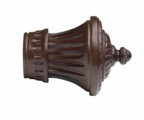 "Kirsch Wood Trends Classics Charleston Finial, for 3"" pole, Mahogany (MPN# 56802"