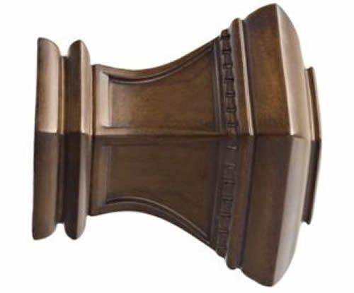"Kirsch Wood Trends Classics Bristol Finial, for 3"" pole, Hazelnut (MPN# 56810827"
