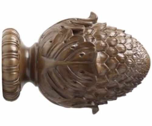 """Kirsch Wood Trends Classics Oakleaf Finial, for 3"""" pole, Hazelnut (MPN# 50977827"""