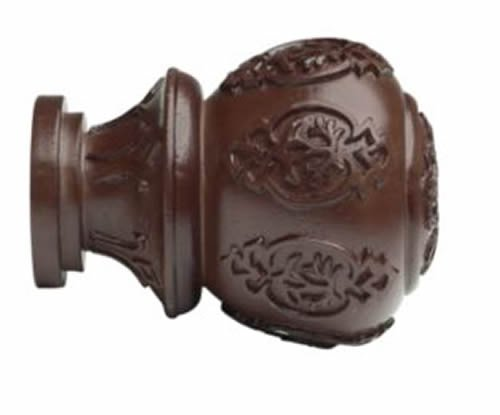 "Kirsch Wood Trends Classics Lacey Finial, for 2"" pole, Mahogany (MPN# 46804083)"