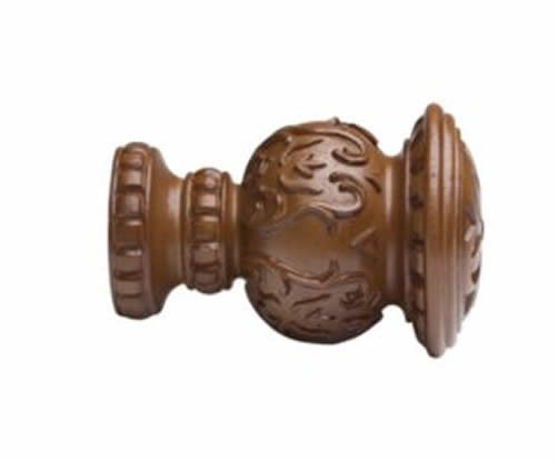"Kirsch Wood Trends Classics Reign Finial, for 2"" pole, Walnut (MPN# 46805085)"