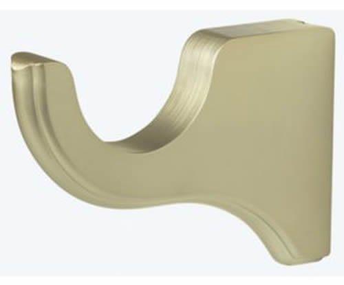 "Kirsch Wood Trends Classics 3 1/2"" Return Bracket for 2"" pole,  Satin Gold (MPN#"