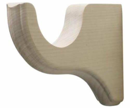 "Kirsch Wood Trends Classics 4 1/2"" Return Bracket for 3"" pole,  Unfinished (MPN#"