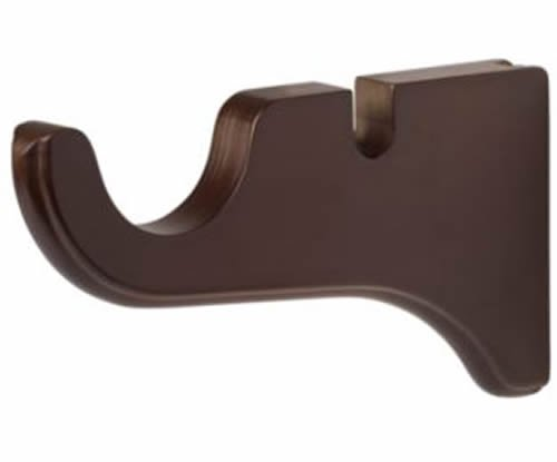 "Kirsch Wood Trends Classics Doubled Bracket for 2"" pole,  Mahogany (MPN# 5515083"