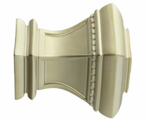 "Kirsch Wood Trends Classics Bristol Finial, for 2"" pole, Satin Gold (MPN# 468108"