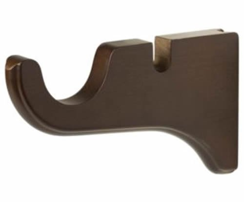 """Kirsch Wood Trends Classics Doubled Bracket for 2"""" pole,  Coffee (MPN# 5515841)"""