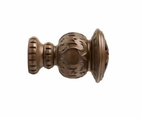 """Kirsch Wood Trends Classics Reign Finial, for 2"""" pole, Hazelnut (MPN# 46805827)"""