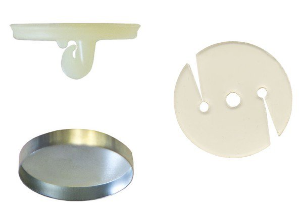 12:Osborne Covered Button Kit-Nylon Super Hook, Soft Shells,Poly Washer Size:30