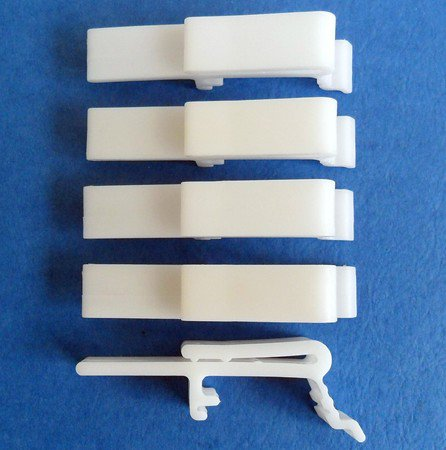 5 QTY: Vertical Blind Dust Cover Valance Clip Holder Bracket