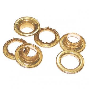 50 QTY-Osborne-No. G2-3-BRASS Grommets & Spur Washers, size 3. (13050)