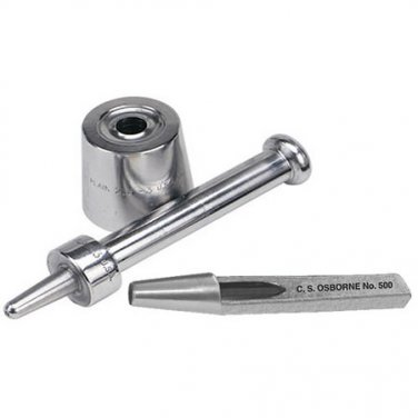 C.S. Osborne Grommet Cutter (No.500-5A) & Setter (No. 217-5) Tool Kit-Size 5