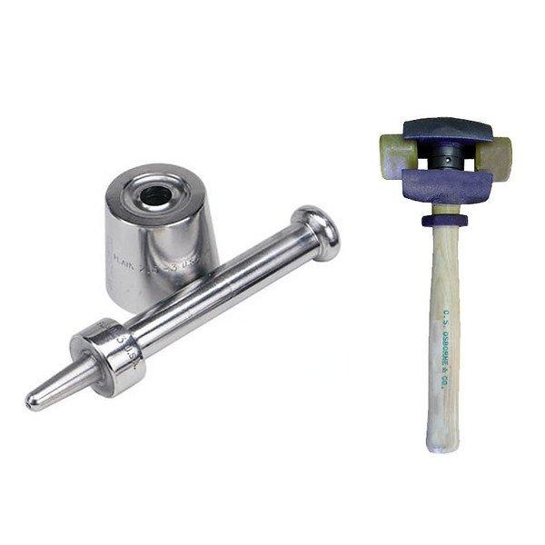 Osborne Plain Grommet Setter-Size 1 (No. 216-1) & Split Head Hammer(No.395-1R)