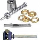 Osborne:72 Brass Grommet, 216 Setter, 500 Cutter, 395-1 Rawhide Hammer (Size 0)