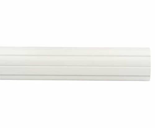 """Kirsch Wood Trends Classics Fluted 2""""  Drapery Pole, White 8 FT  (# 55008G025)"""