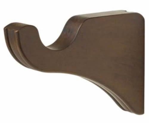 "Kirsch Wood Trends Classics 3 1/2"" Return Bracket :1 3/8"" pole-Hazelnut, 1 Pair"