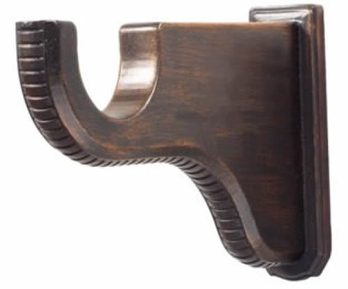 "Kirsch Wood Trends Renaissance 6 1/4"" Return Bracket for 2"" pole,  Brown"