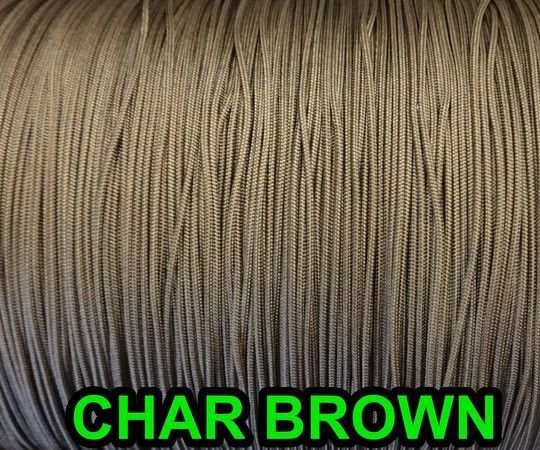 100 FEET: 0.9 MM CHAR BROWN Professional Grade Nylon Lift Cord  Window Treatment