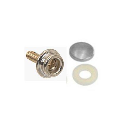 "50 QTY.: C.S. Osborne 5/8"" Nickel Screw Studs+Snap Rings+Soft Shells,Size 36"
