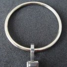 "SILVER Dual Finish Curtain Rings, 2"" Diameter, w/ Brushed Steel Clips"