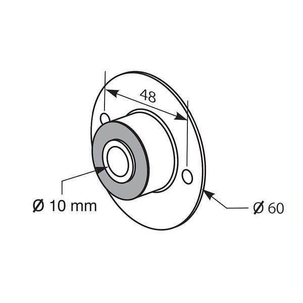 Somfy Silent Block Idler Bracket 10mm I.D.  for 500 Series