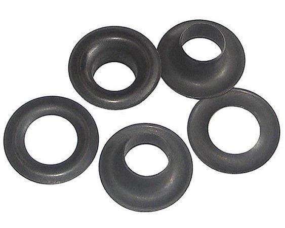 144 QTY-C.S. Osborne - No. B1-2-DULL Black Grommets & Washers,size 2. (71888)