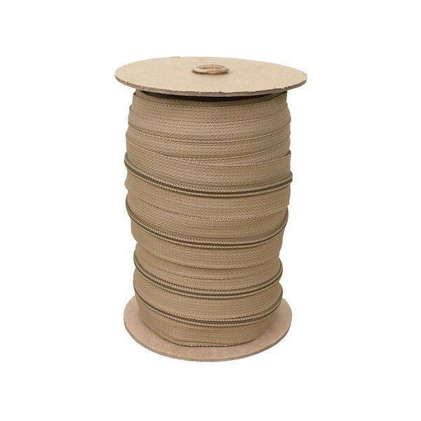 Zippers by the Roll, 6 yards - TAN, Nylon