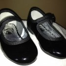 THE CHILDREN PLACE BABY GIRL VELCRO BLACK DRESSY SHOES SIZE 5