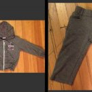 "Coney Island Girls 2 Piece Gray Zip Up Hoodie Sweatpant ""LOVE"" Size 24 Months"