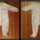 """Carter's Unisex Polka Dot Footed Pajamas """"I love Mommy""""  9 Months"""