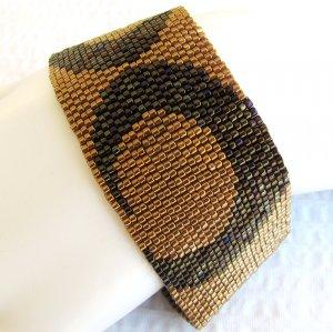 Wide Bronze Peyote Cuff (2139)