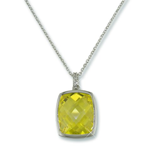 Canary Yellow Cubic Zirconia Necklace