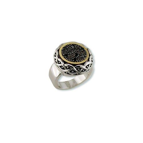 Antique Jet Cubic Zirconia Ring