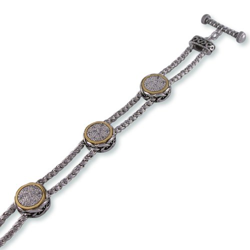 Antique Two-Toned Cubic Zirconia Bracelet