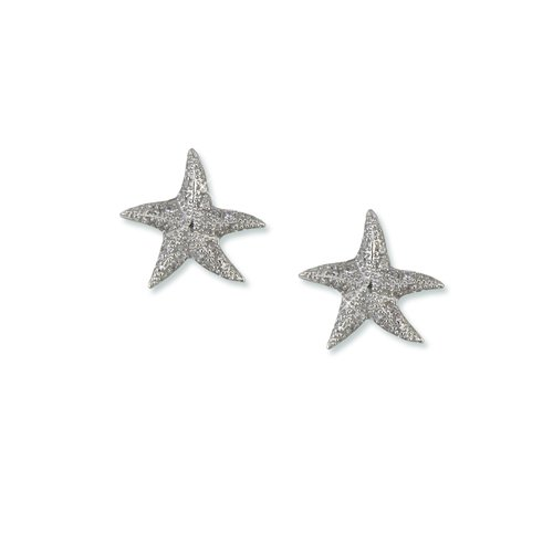 Star Fish Cubic Zirconia Earrings