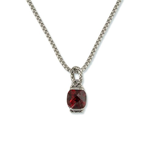 Garnet Antique Cubic Zirconia Necklace (N6151G)