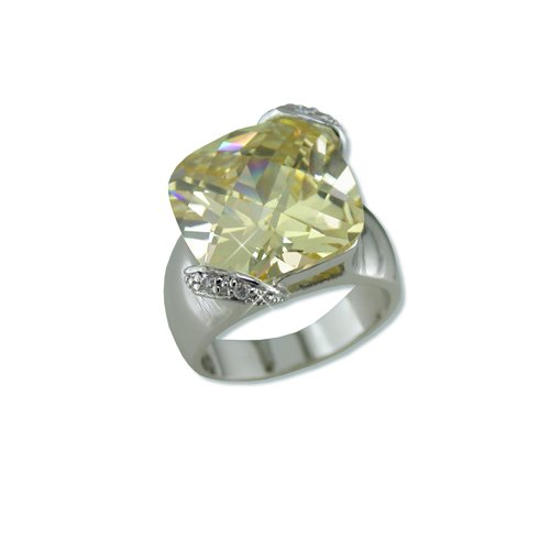 Light Yellow Cubic Zirconia Ring (R6219LY)