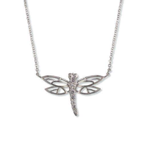 Dragonfly Cubic Zirconia Necklace (N6208)